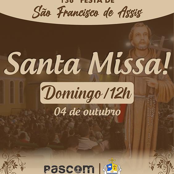 Santa Missa - Domingo 04/10   12H