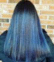 Blue and blonde balayage by me _#framesi