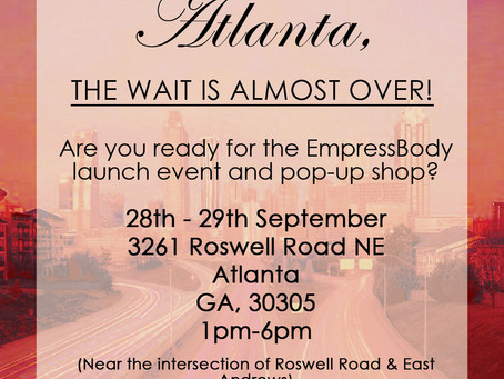 Don't Forget Our Atlanta Pop-Up!