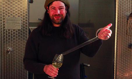 Jef Stebben, winemaker at Maple Springs Vineyard