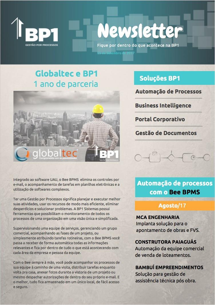 Globaltec e BP1 - 1 ano de parceria