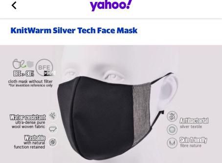 KnitWarm SilverTech FaceMask  @ yahoo 港產可重用口罩特集