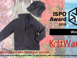 KnitWarm 4 in 1 Urban Jacket is Winner of the ISPO Award 2019 in Urban Segment