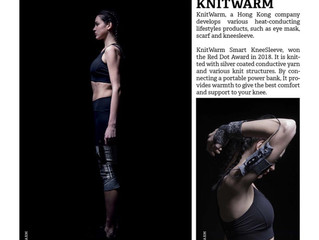 The KnitWarm Technology from KnitWarm, is a stretchable and heat-conductive innovative textile