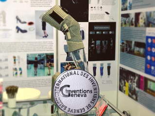 KnitWarm KneeSleeve project under HKDI CIMT won Silver Medal at the 46th IEIG
