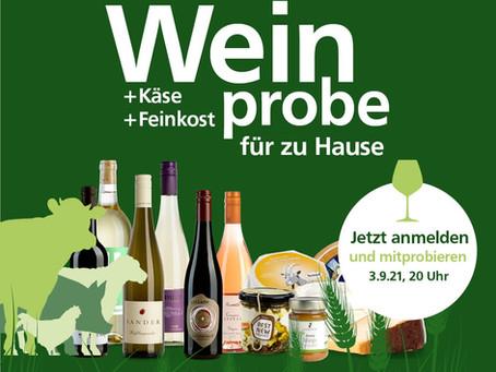 Einladung zur Online-Weinprobe