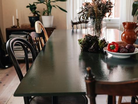 Uusi keittiönpöytä
