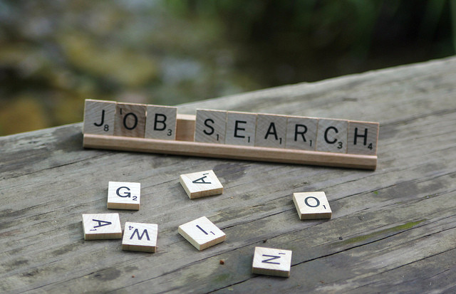 Job Search in Scrabble game tiles