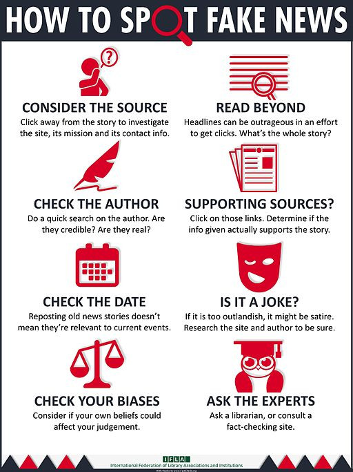 how to spot fake news poster