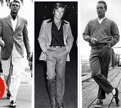 Cary Grant, Robert Redford and Paul Newman looking fine