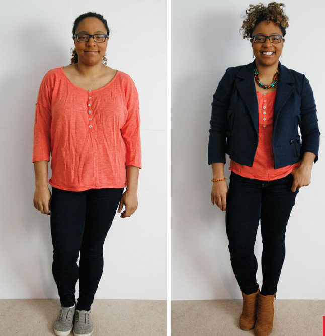 Frumpy vs Fit with Same Outfit