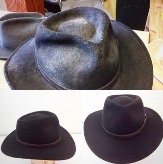 Felt Hat Reshaped and Restored