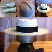Restoring Rolled Up Panama Hats