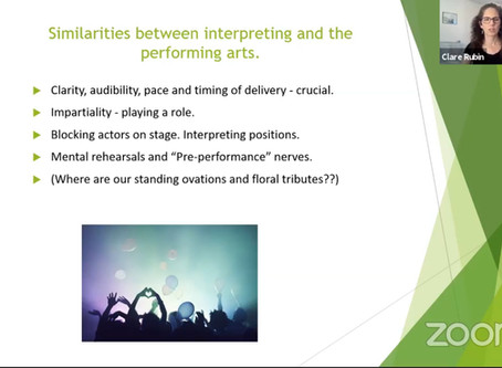 Crossovers between Interpreting and the Performing Arts.