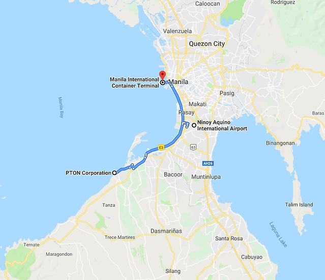 PTON2NAIA-MICT route map.png