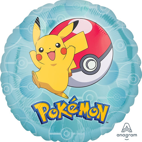 """Standard Foil Balloon """"Pokemon"""" 18"""" Helium Balloon"""