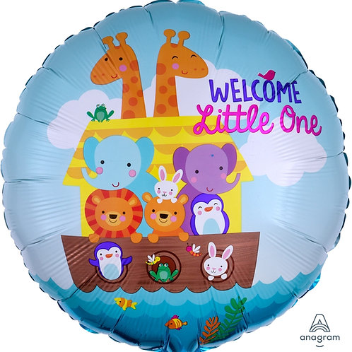 "Standard Foil Balloon ""Welcome Little One"" 18"" Helium Filled"