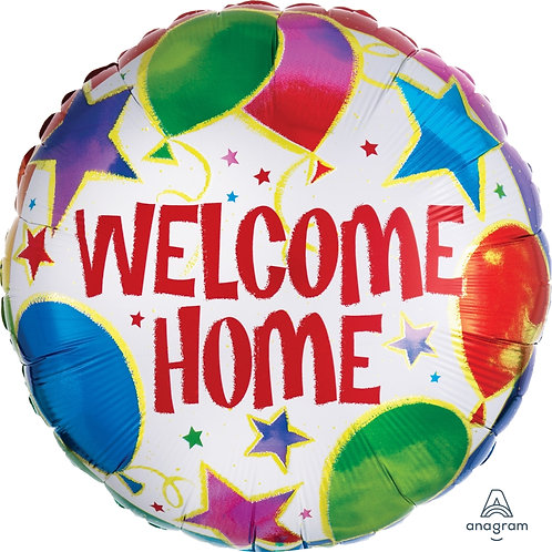 "Standard Foil Balloon ""Welcome Home"" 18"" Helium Filled"