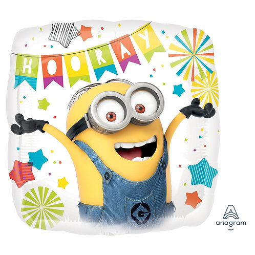 "Standard Foil Balloon ""Despicable Me Birthday"" Trademarked"" 18"" H"