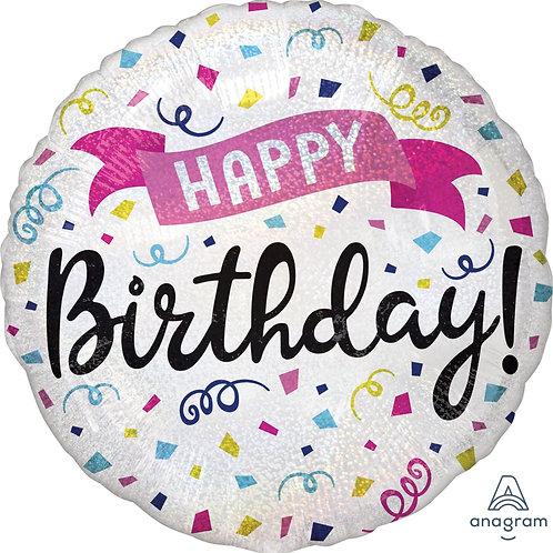 "Standard Foil Balloon ""Happy Birthday Sparkle"" 18"" Helium Filled"