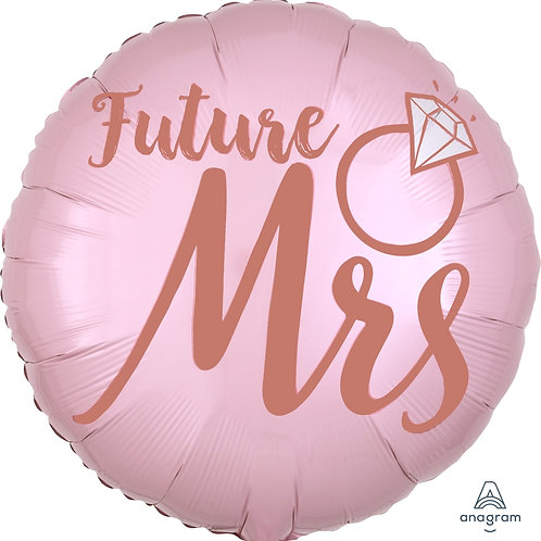"Standard Foil Balloon ""Future Mrs Wedding"" 18"" Helium Filled"