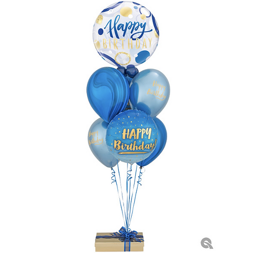 The Royal Blue and Bold Birthday Helium Bouquet