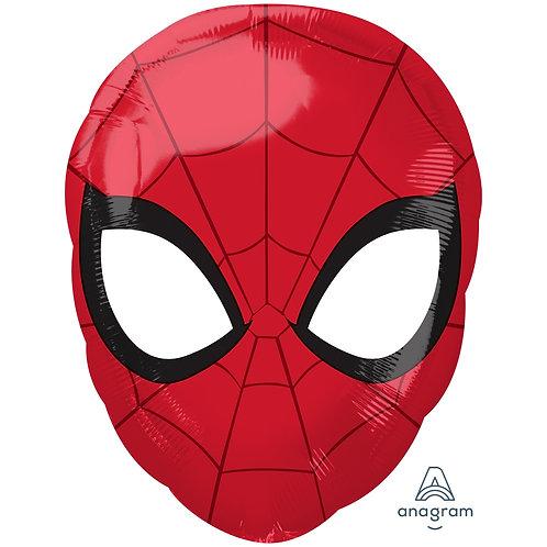 "Spider Man Mask Junior Shape Foil Balloon 18"" Helium Fille"