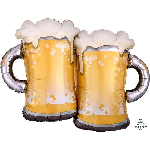 Supershape Beer Mugs Helium Filled