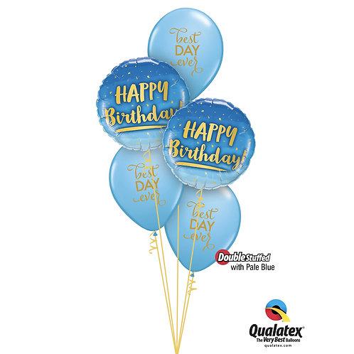 Best Day Ever! Blue Birthday Helium Bouquet