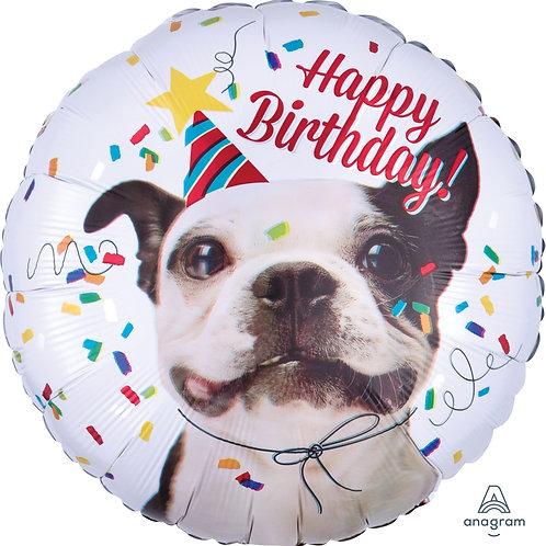 "Standard Foil Balloon ""Happy Birthday Dog"" 18"" Helium Filled"