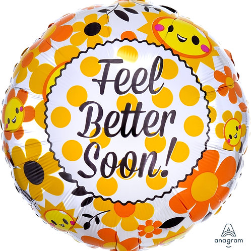 "Standard Foil Balloon ""Feel Better Soon"" 18"" Helium Filled"