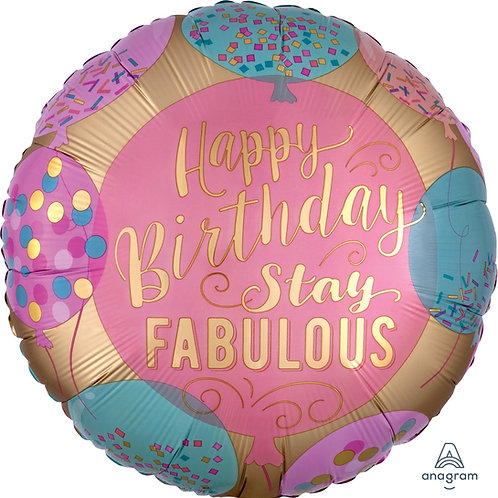 "copy of Standard Foil Balloon ""Stay Fabulous!"" 18"" Helium Filled"