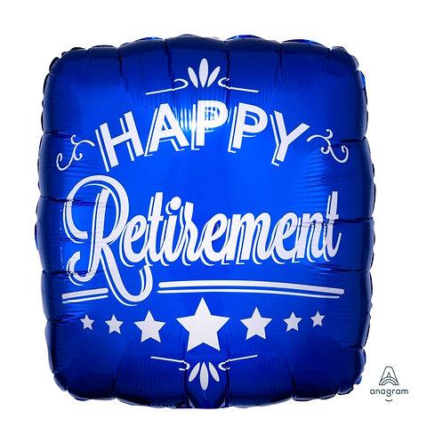 "Standard Foil Balloon ""Happy Retirement"" 18"" Helium Filled"