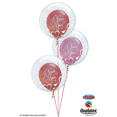 I Love You! Double Bubble Bouquet