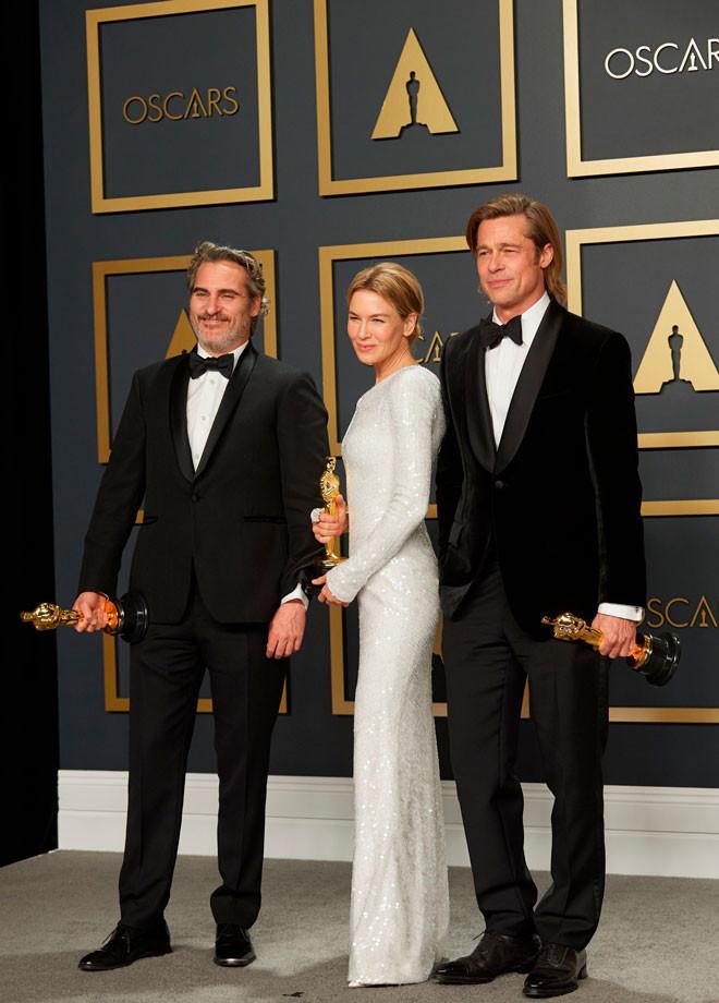 Joaquin Phoenix, Renee Zellweger, Brad Pitt, Oscar 2020.