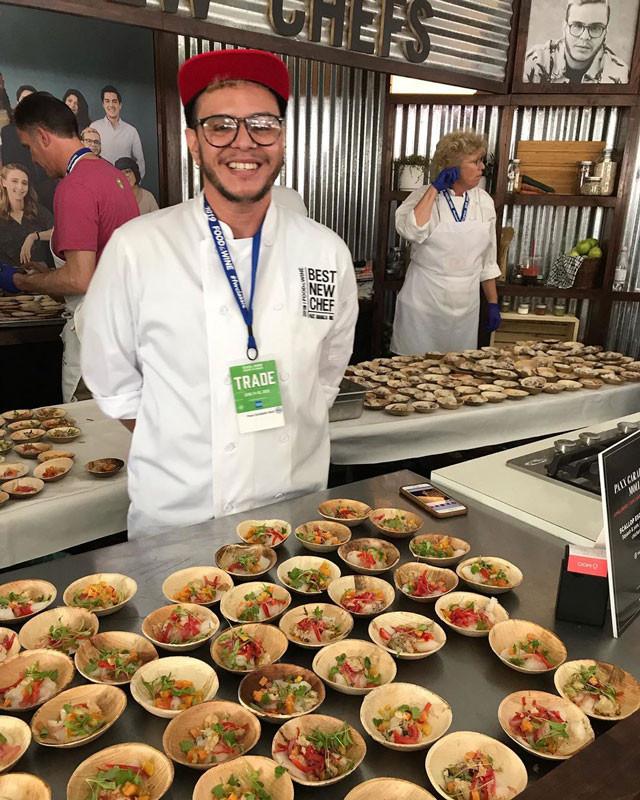 Paxx Caraballo, Moll durante evento de Food and Wine.