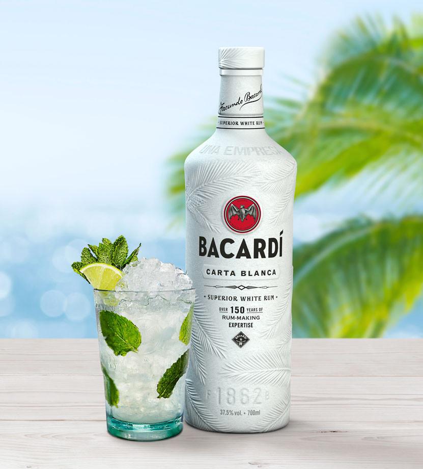 Bacardi, botella biodegradable.