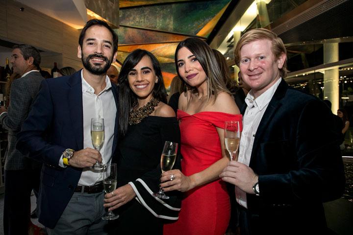 Jorge de la Vega, Melissa Santiago, Maria de la Vega y Felipe Gavilanes.
