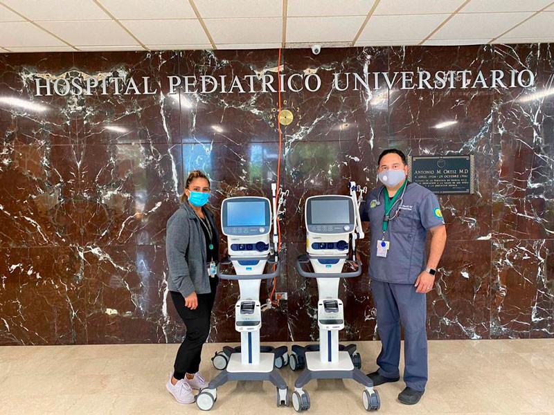 Ventiladores al Hospital Pediátrico Universitario, Direct Relief.