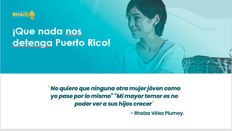Las Voces de Rhaiza Vélez Plumey. Vive la Vida Teal, Edúcate, Toma Acción, Vacúnate y Riega la Voz.