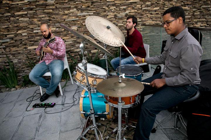 Grupo Latin jazz.