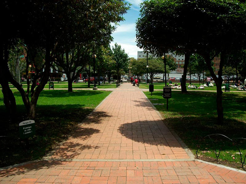 Parque de la 93, Bogotá. Foto Wikipedia
