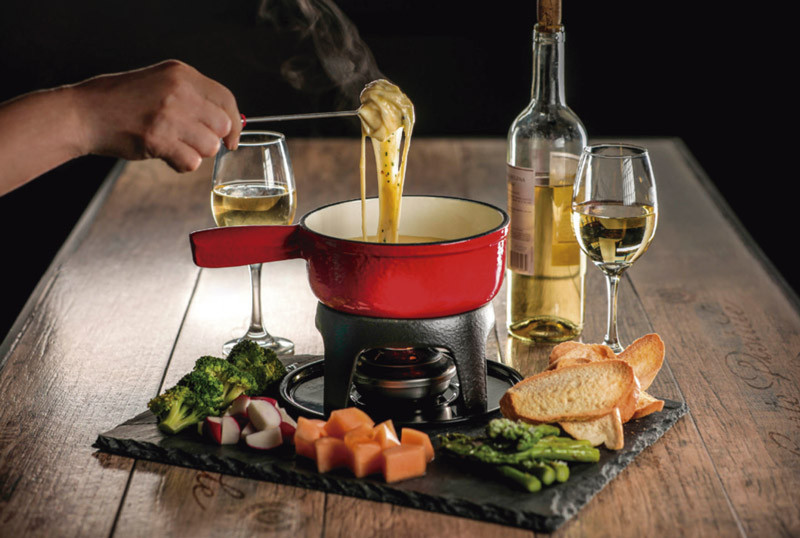 Papa asada con raclette