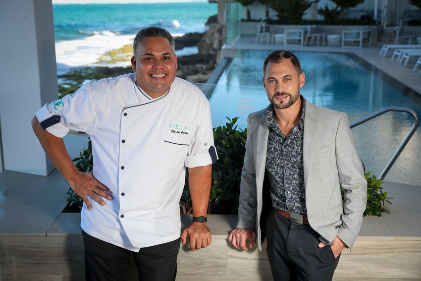 Chef Luis Guzman y Marc A Smith. El Hotel Condado Ocean Club.