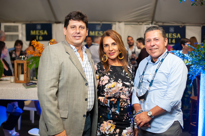 Jean Pierre Mujica, Dalila Gutierrez, Chef Pedro Gonzalez.