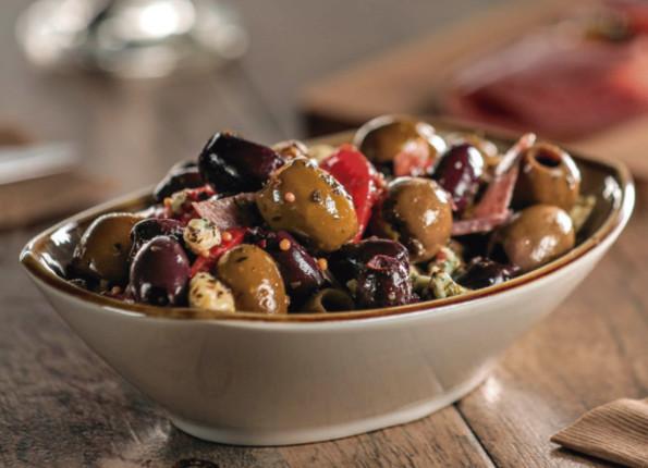 Aceitunas mixtas con gorgonzola