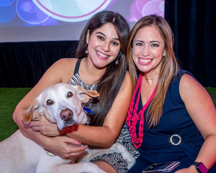 Evelyn Torres con Nose y Yina Cruz.
