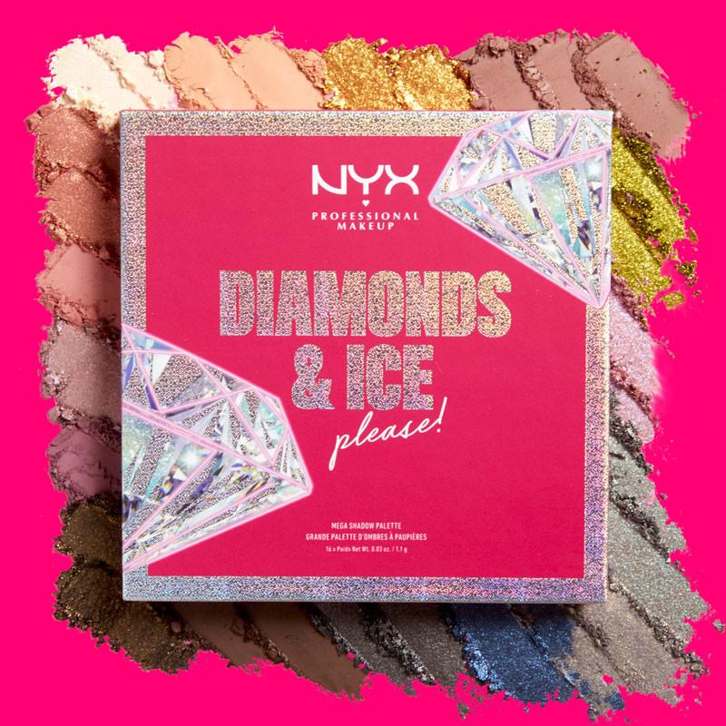 NYX Professional Makeup Diamonds & Ice, Please! Mega Shadow Palette