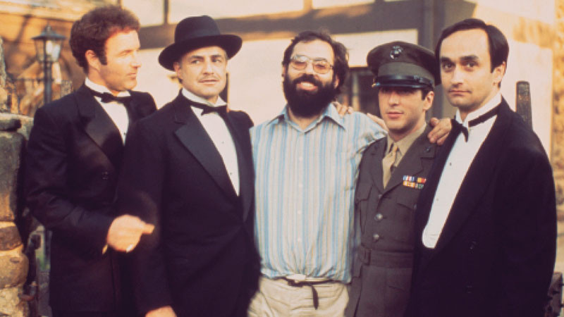 Al Pacino, Francis ford Coppola, Marlon Brando, James Caan, The Godfather.