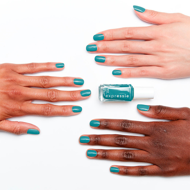 essie expressie quick-dry nail polish, dial it up collection, up up & away message